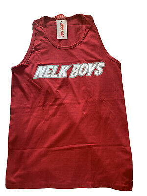 Nelk Boys Tank Top June Drop Red Size Small Stevewilldoit Full Send Rare Ebay Available in a range of colours and styles for men, women, and everyone. ebay