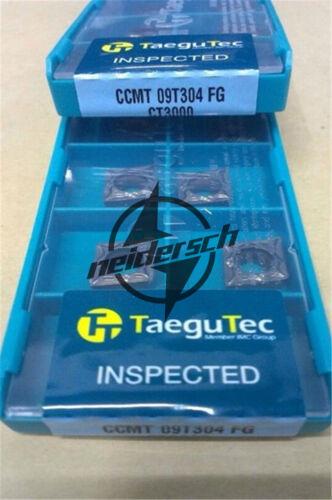 10PCS//LOT TaeguTec CCMT09T304 FG CT3000 Carbide Inserts NEW