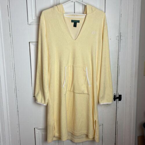 Lauren Ralph Lauren Hooded Pale Yellow Terry Cloth