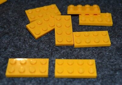 LEGO NEW 2x4 Yellow Plate 10x 302024 Brick 3020
