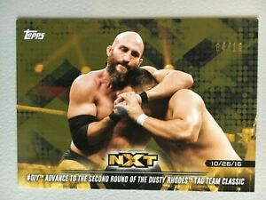 DIY Advance To The Second Round 2018 Topps WWE NXT Gold