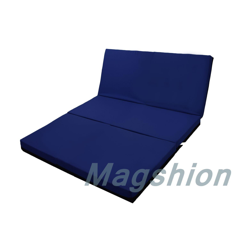 4 Inch Memory Foam Firm Mattress Trifolding Bed Pad Floor Mat Blue Black 4 Size Ebay