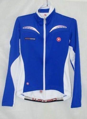 Castelli Women's women Trasparente Long Sleeve bluee Cycling Jersey Size M New