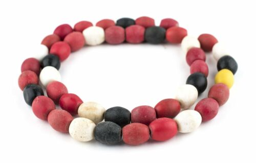 Mixed Bohemian Colodonte Beads 13mm Mali African Multicolor Oval Glass Handmade
