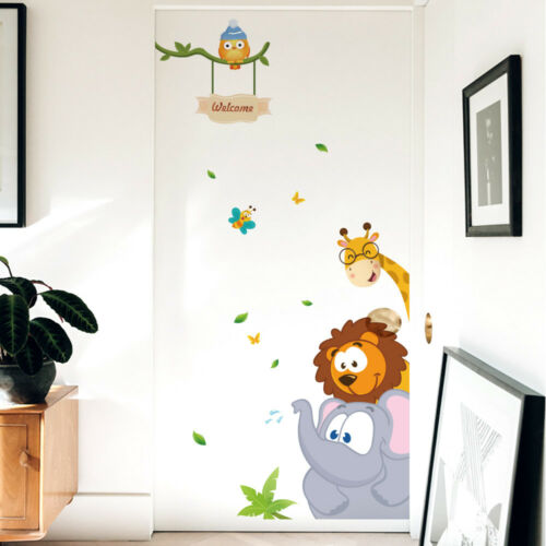 Forest Animals Wall Stickers For Kids Bedroom Decoration DIY Removable Wall