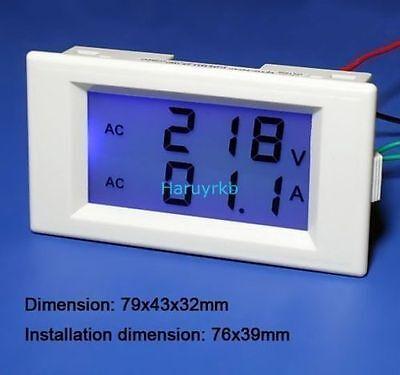Digital AC 300V 100A Lcd Dual Panel Volt Amp Voltmeter Amperemeter +CT 220v 240v