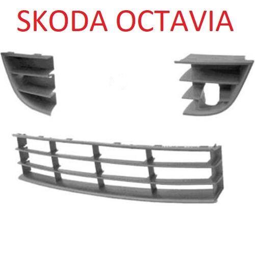 Skoda Octavia 09-12 GITTER GRILL IN STOßSTANGE BLENDE LINKS RECHTS MITTE 1Z3