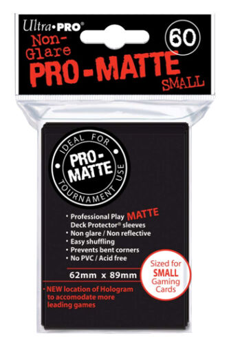 600 Ultra PRO BLACK Pro Matte Sleeves Trading//Gaming Cards Small Size
