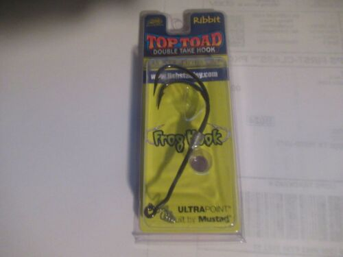 Stanley Ribbit 5//0 Top Toad 1//16 Oz Double Take Hook Frog Hook Mustad Brand New!