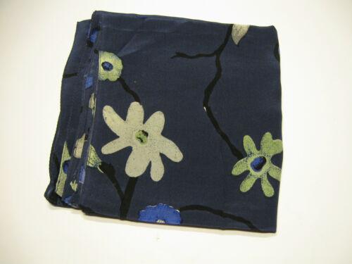 in 3 Farben SEIDEN-TUCH Blumen-Design SCARF SILK Flower-Design SEIDE Schal