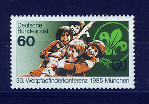 ALEMANIA-RFA-WEST-GERMANY-1985-MNH-SC-1446-World-Scouting-Conf