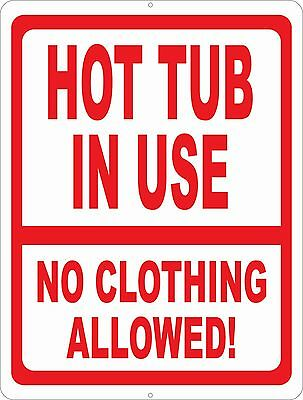 *CLOTHING OPTIONAL* MADE IN HAWAII METAL SIGN 8X12 TIKI BAR HOT TUB POOL NUDE