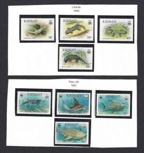 Kiribati 1986-91 collection MNH