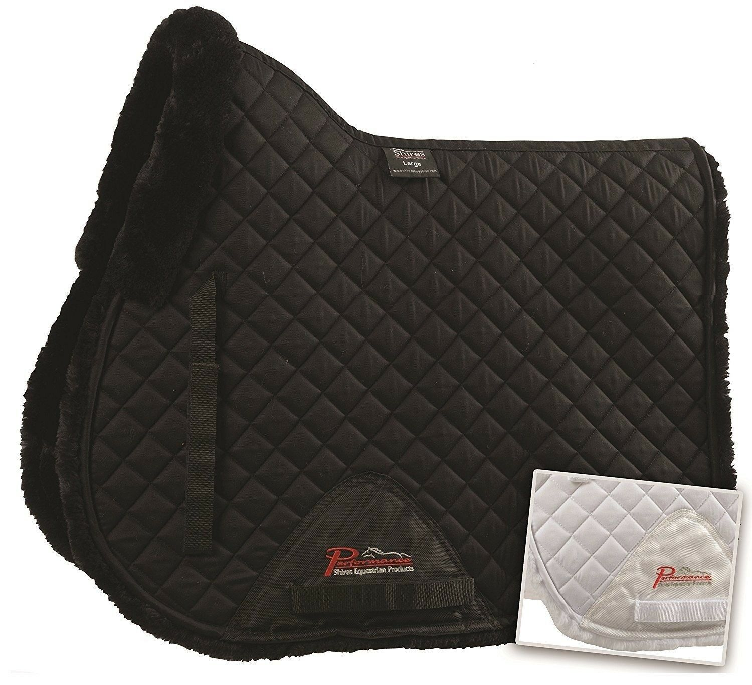 Shires All Purpose Supafleece Saddle Pad Increased Airflow - White White Large