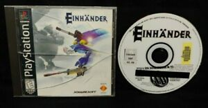 Einhander Playstation 1 2 PS1 PS2 Game Rare Tested Squaresoft Shooter 1998