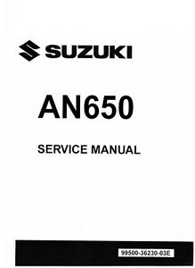 2013 2014 2015 2016 suzuki burgman 650 an650 service manual on cd ebay rh ebay com 2004 suzuki burgman 650 service manual 2013 suzuki burgman 650 service manual