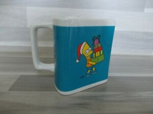 Vintage-collector-mug-triangular-part-of-circle-of-6-The-Simpsons-Bart