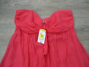 SIZE-16-STUNNING-CORAL-DRESS-AUTOGRAPH-M-amp-S-100-SILK-BNWT-WAS-65-8