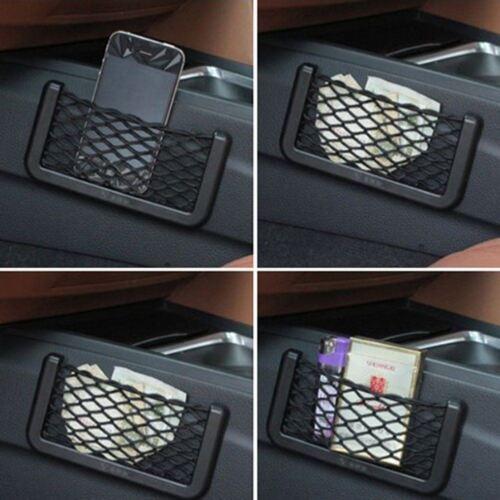 4pcCar Van Truck Net Mesh Storage Bag Pocket Organizer Holder PhoneWallet 20x8cm