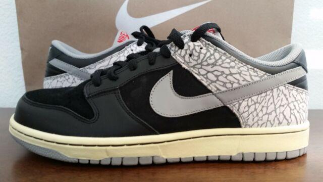newest de0b4 847d8 DS 2006 Nike Dunk Low CL Jordan Pack AJ 3 III Black Cement 304714-905 Sz 9