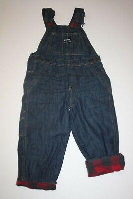 New OshKosh Boys Denim Blue Jean Overalls Heritage Logo NWT 24m Dakota Vestbak