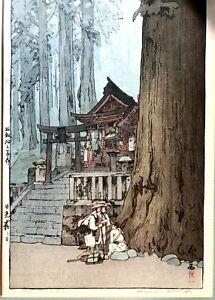 HIROSHI-YOSHIDA-1876-1950-Misty-Day-in-Nikko-Japanese-Woodblock-Print