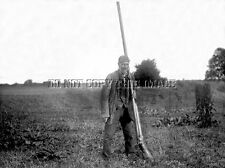 ANTIQUE REPRODUCTION HUGE PUNT GUN DUCK GOOSE HUNTING BOAT 8X10 PHOTOGRAPH 5