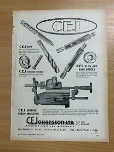 1954-C-E-Johansson-Limitee-Dunstable-Precision-Outils-Vintage-Annonce