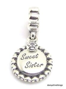aba59064c Image is loading NEW-TAGS-AUTHENTIC-PANDORA-SILVER-CHARM-SWEET-SISTER-