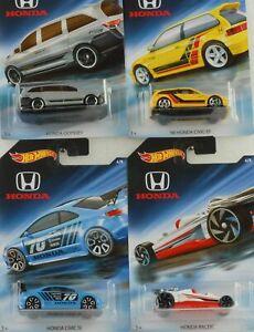 Honda-Jeu-4-Voitures-70th-Anniversaire-Civic-Ef-si-Racer-Odyssey-1-64