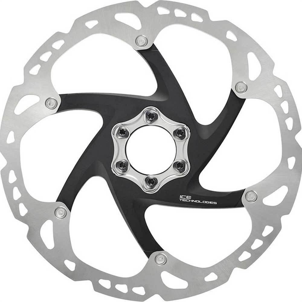 Shimano Disco freno Disc SMRT 86 S 160mm 6 fori ICETECH argentoonero bicicletta