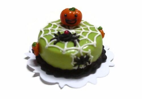 Halloween Cake Spider Pumpkin Dollhouse Miniatures Food Bakery Holiday Season 13