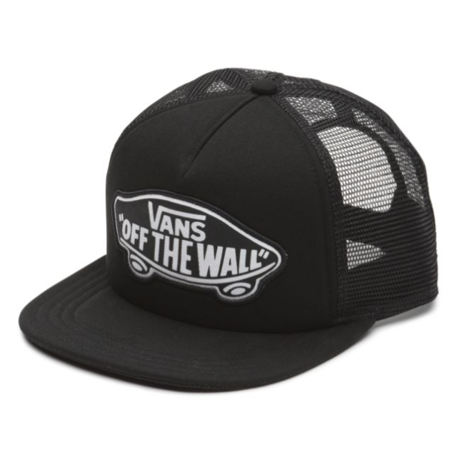 91c726ce Vans OFF THE WALL Trucker Hat (NEW) Snapback Cap BLACK WHITE Beach FREE  SHIPPING