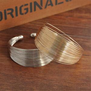 Women-Hollow-Wide-Punk-Gold-Silver-Cuff-Bracelet-Bangle-Costume-Jewelry-Gift