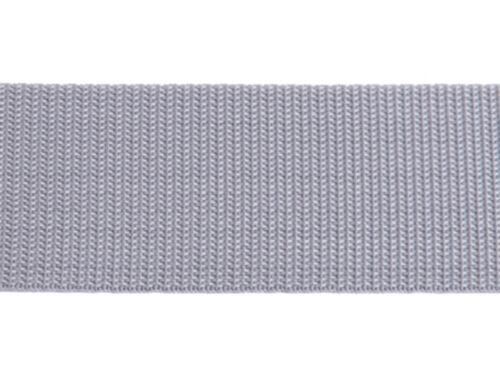 HELLGRAU Bänder 40mm breit Dicke 1,3 mm Gurtband 10m lang
