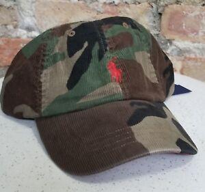 POLO RALPH LAUREN Men s Cotton CORDUROY Camo Camouflage Baseball Cap ... 3afd63aee356