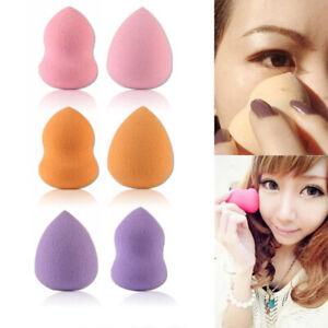 6x-Eponge-Houppe-A-Poudre-Maquillage-Cosmetique-Blender-Fondation-Fond-De-Teint