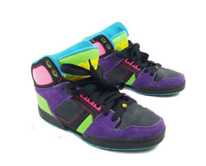 c6fdfba04a5ee3 Womens Osiris NYC 83 SLM Neon Skateboarding Shoes Pink Purple Black ...