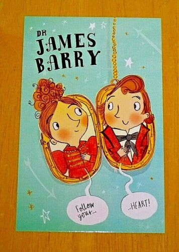 DR JAMES BARRY /'FOLLOW YOUR HEART!/' FANTASTICALLY GREAT WOMEN POSTCARD NEW