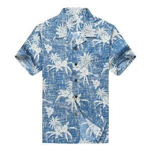 NWT-Men-Aloha-Shirt-Cruise-Luau-Hawaiian-Party-Vintage-Blue-Pineapple-Floral