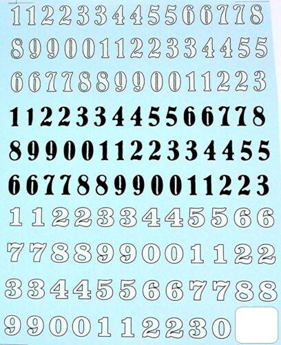 Los números de inicio-starting numbers 1:24 decal estampados