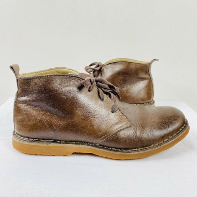 LL Bean Size 8.5 Brown Lace Up Boots Genuine Leather Casual Work Trendy