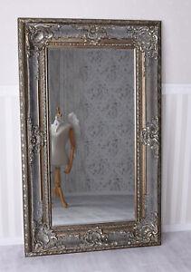 Spiegel XXL Silber Wandspiegel Barock Prunkspiegel 160x98cm Ankleidespiegel neu