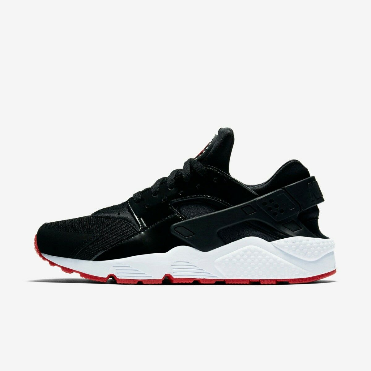 NIKE AIR HUARACHE MENS RUNNING TRAINER SHOE BLACK GYM RED SIZE 6 8 RRP £115/-