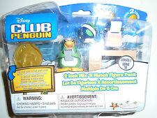 """Nuevo Disney Club Penguin 2"""" Mix y combinar figura con monedas y trabajo escritorio."""