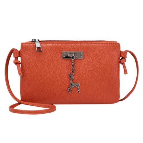 Women/'s Messenger Bag Casual PU Leather Shoulder Handbag Crossbody Purse Tote