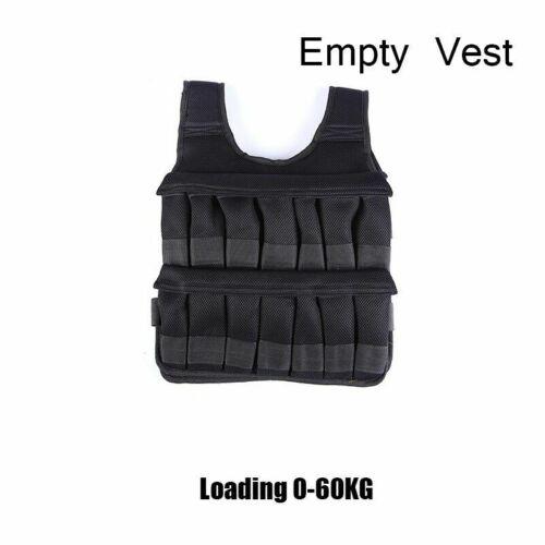 5kg 20kg 60kg Weighted Vest Adjustable Loading Weight Jacket Exercise Boxing Tra