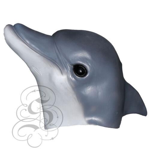 Latex Full Head Aquatic Animal Gold Fish Dolphin Penguin Clown Fish Party Masks