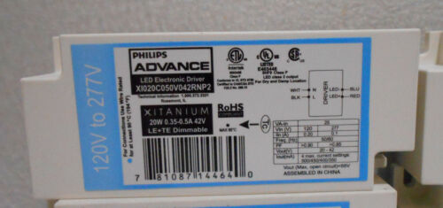 X4 NEW PHILIPS 120-277V LED ELECTRONIC DRIVER// BALLAST LE TE DIMMABLE 20W