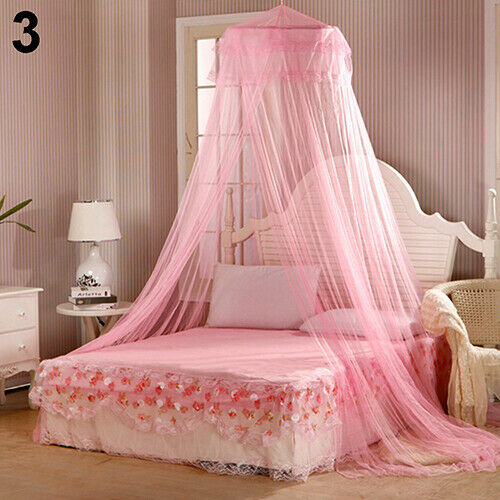 House Bedding Decor Summer Sweet Style Round Bed Canopy Dome Mosquito Net fin